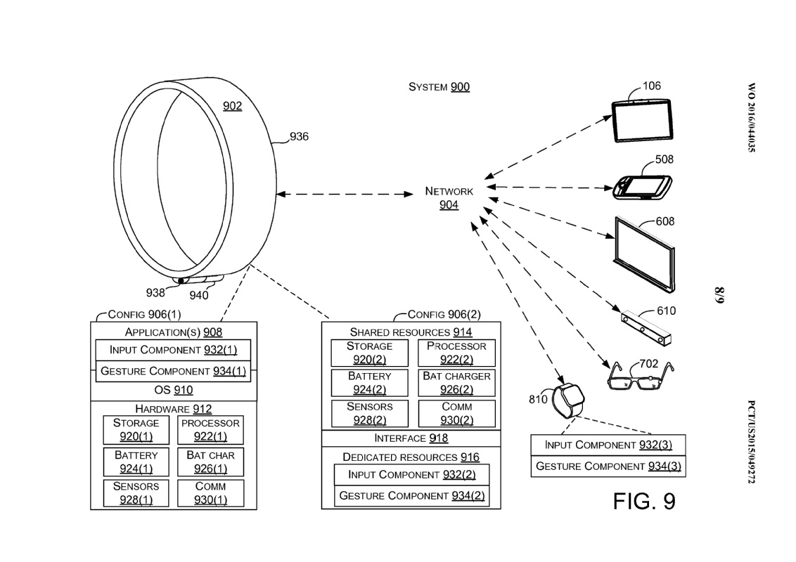 Microsoft Smart Ring patent picture
