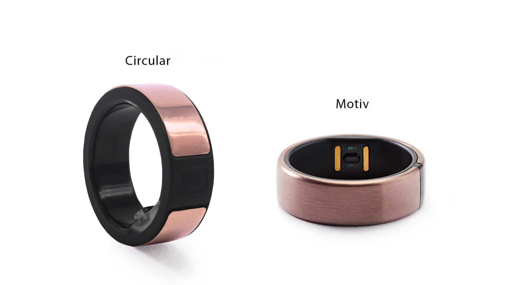 Circular and Motiv smart rings
