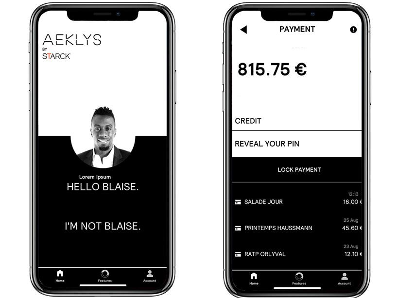 aeklys smart ring application screenshot