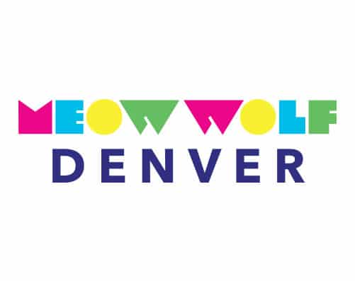"colorful Meow Wolf logo with ""Denver"" under"