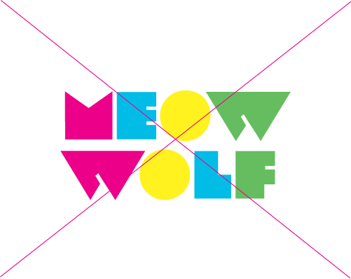 colorful Meow Wolf logo on white background