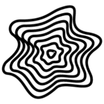 black lines in a blob repeating