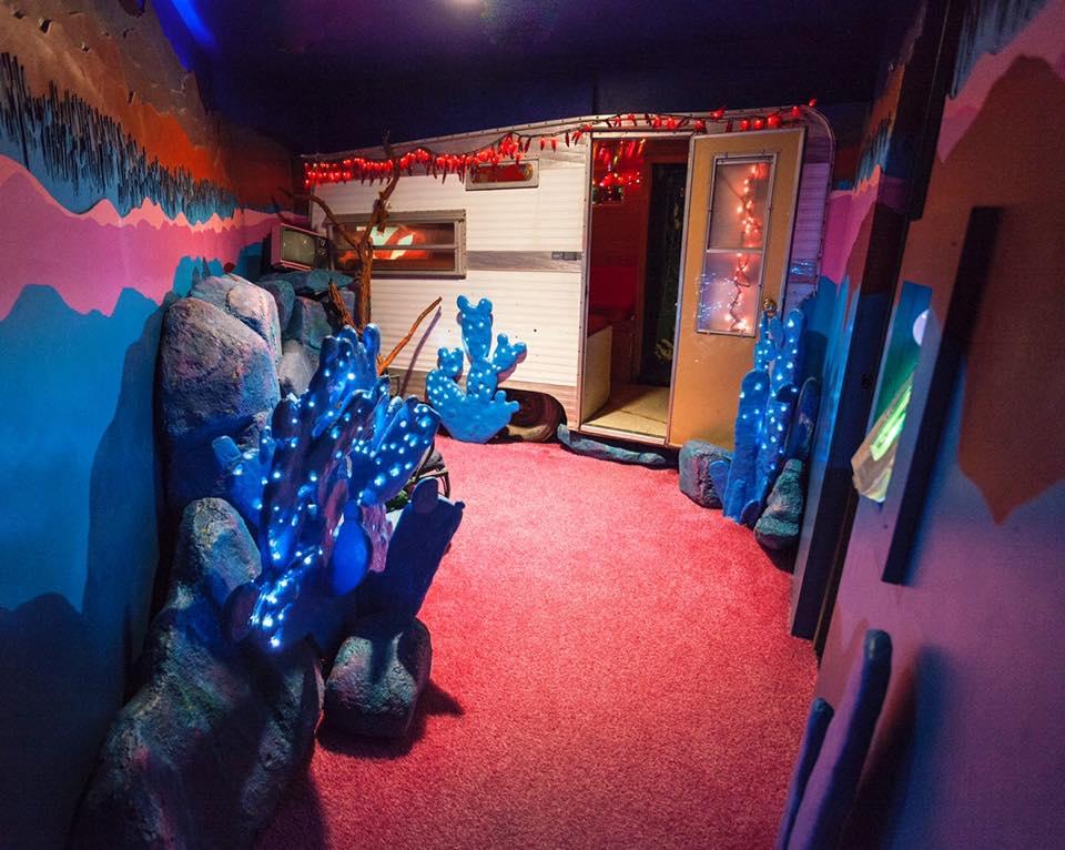 Art exhibit room at Meow Wolf in Santa Fe, NM