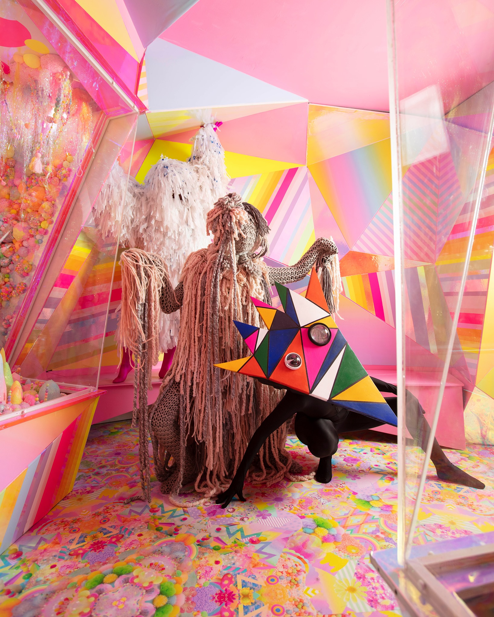 People standing in room at Meow Wolf in Santa Fe