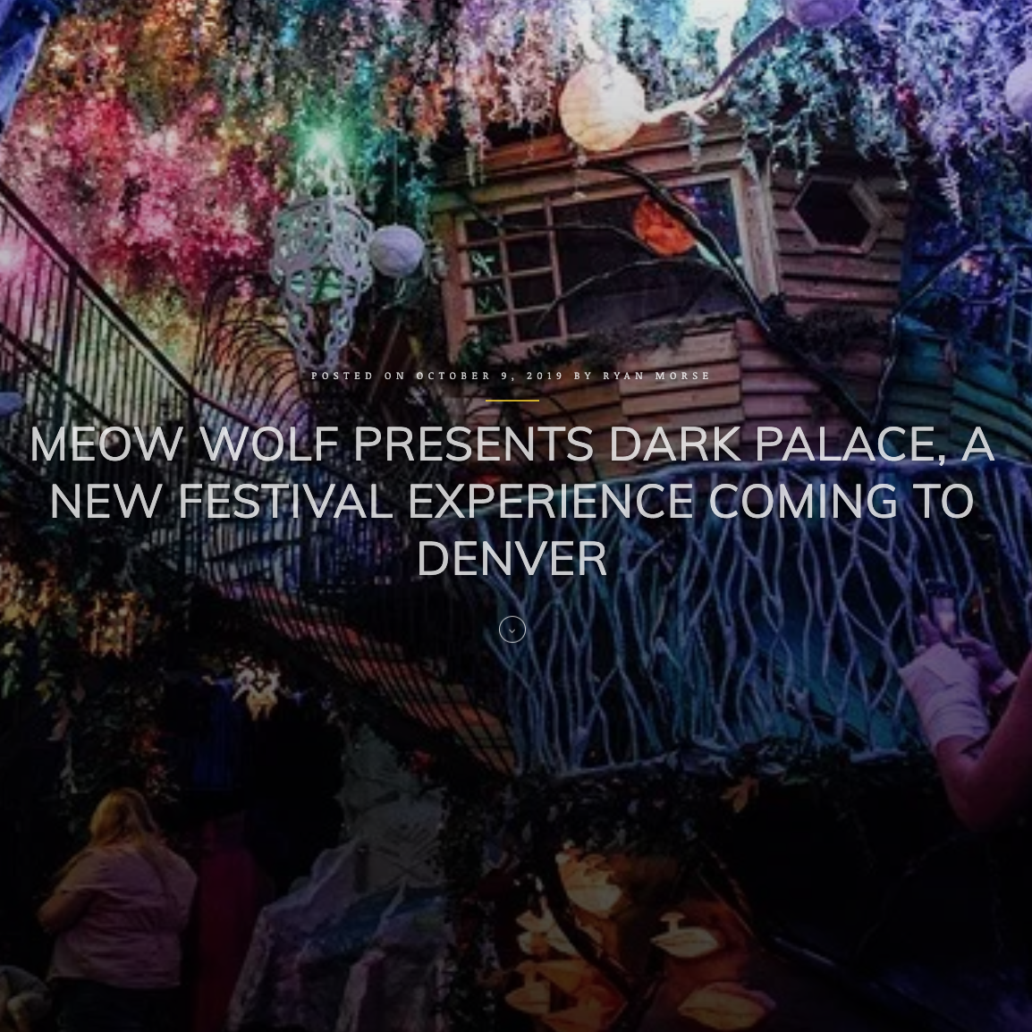 Meow Wolf presents dark palace. A new festival experience coming to Denver