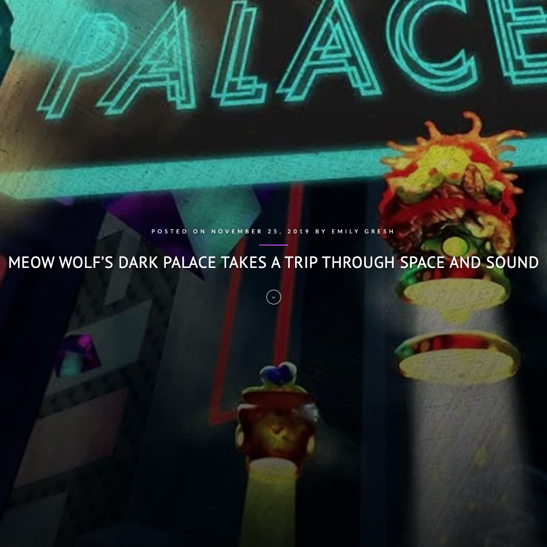 Meow Wolf's Dark Palace takes a trip through space and sound