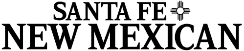 Santa Fe New Mexican logo in black and white