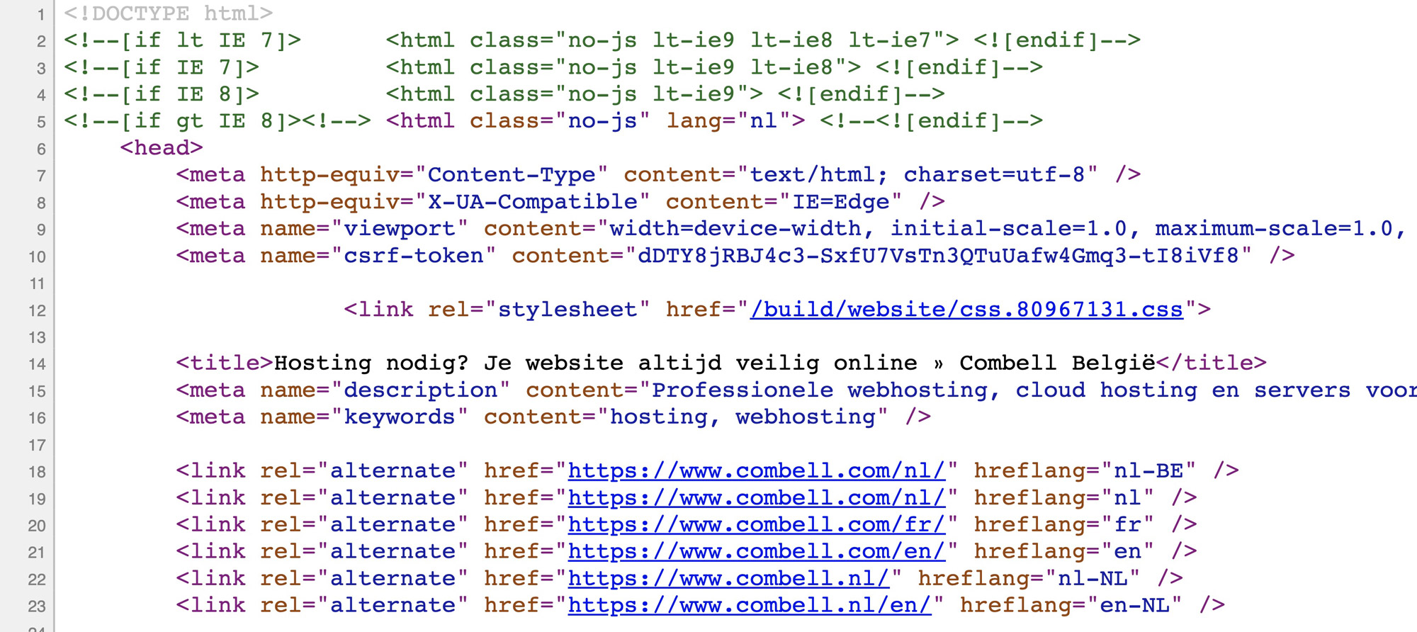 Html code in browser