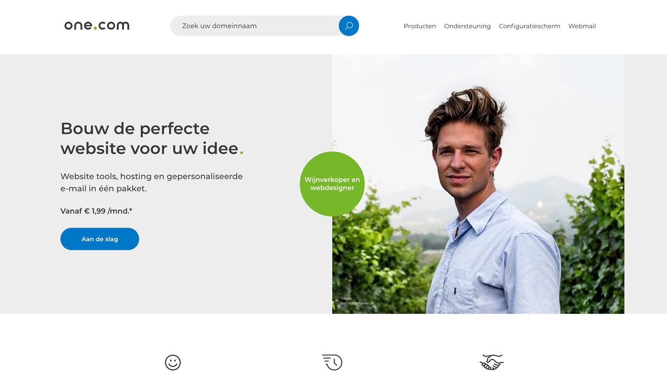 One.com website