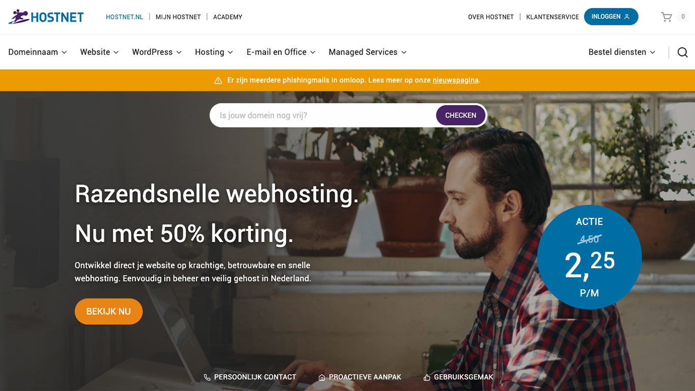 Hostnet.nl website