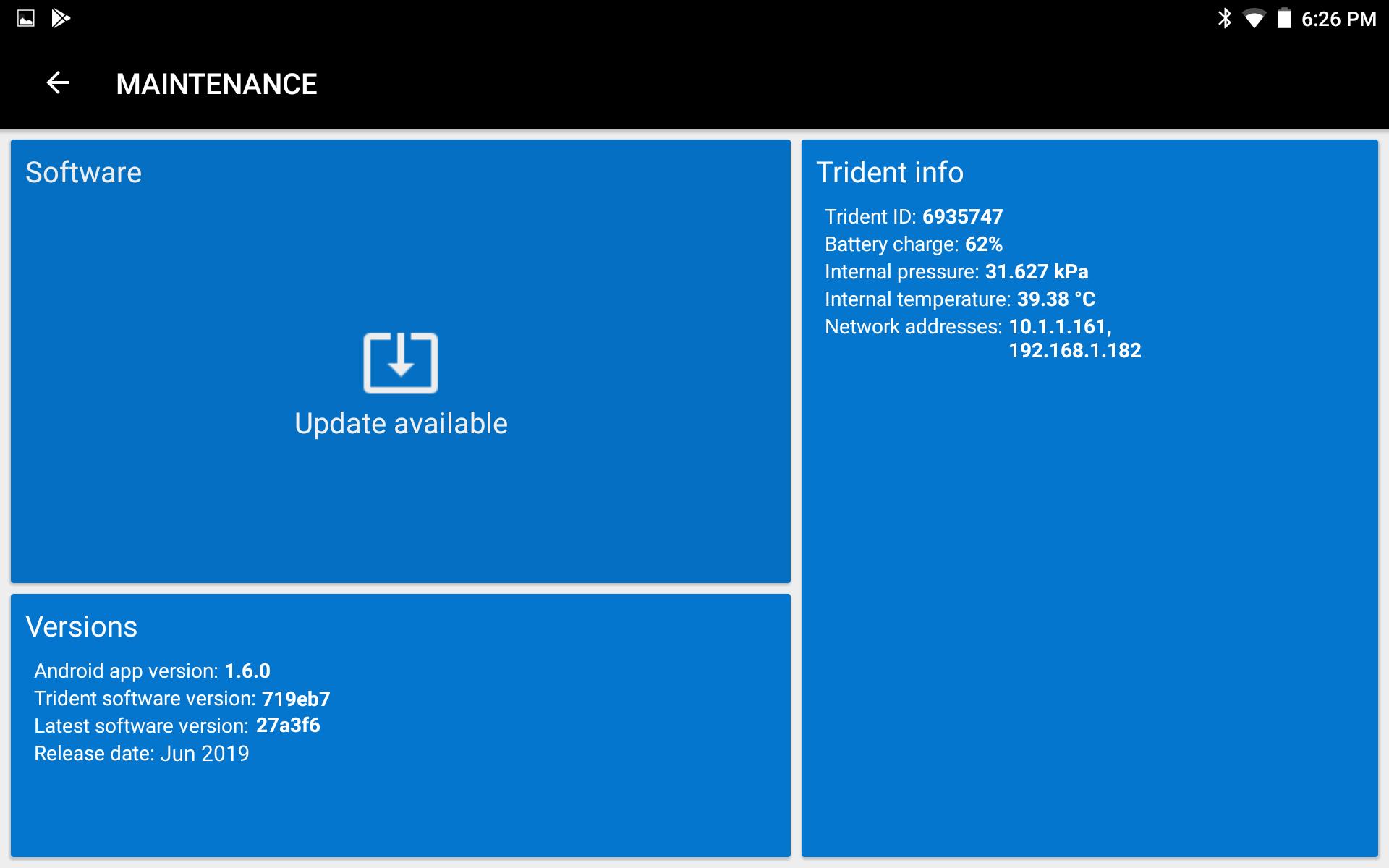 Sofar Trident Update 1.6.0