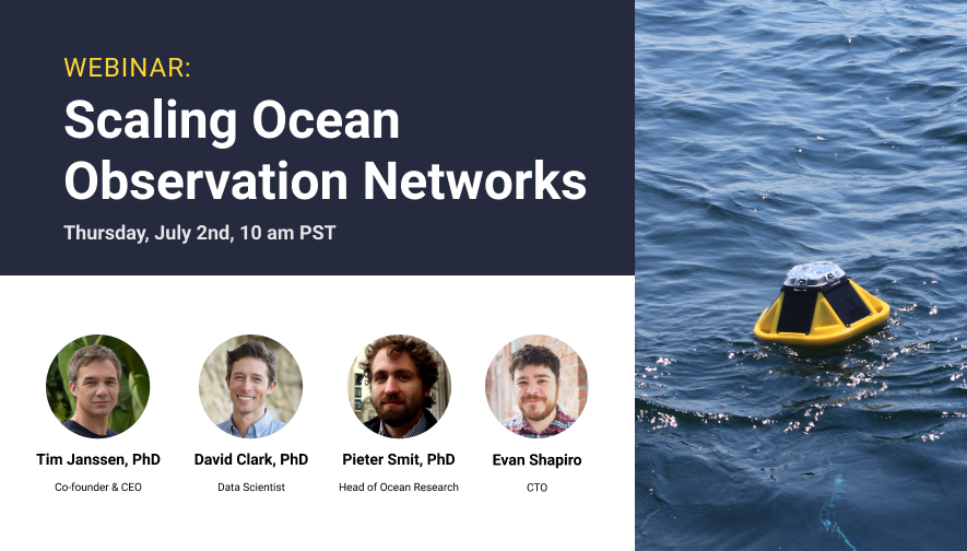 Webinar: Scaling Real-time Ocean Observation Networks Using Agile Sensor Platforms