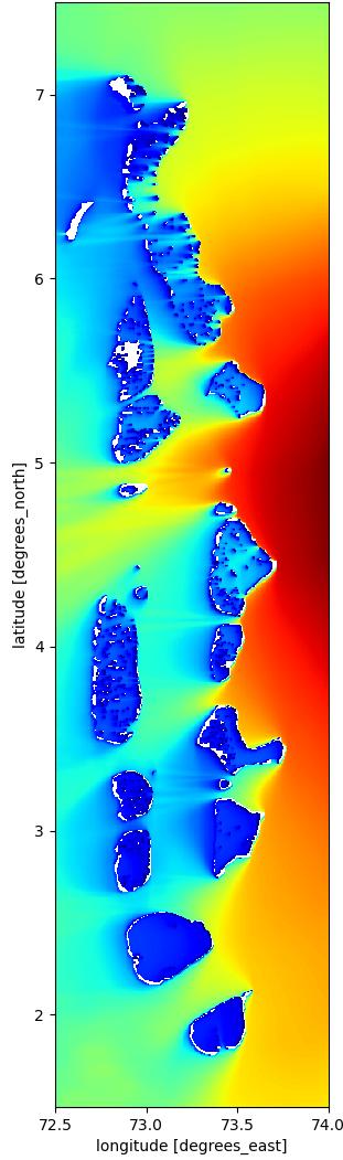 Image 5: Wave model test results for Maldives