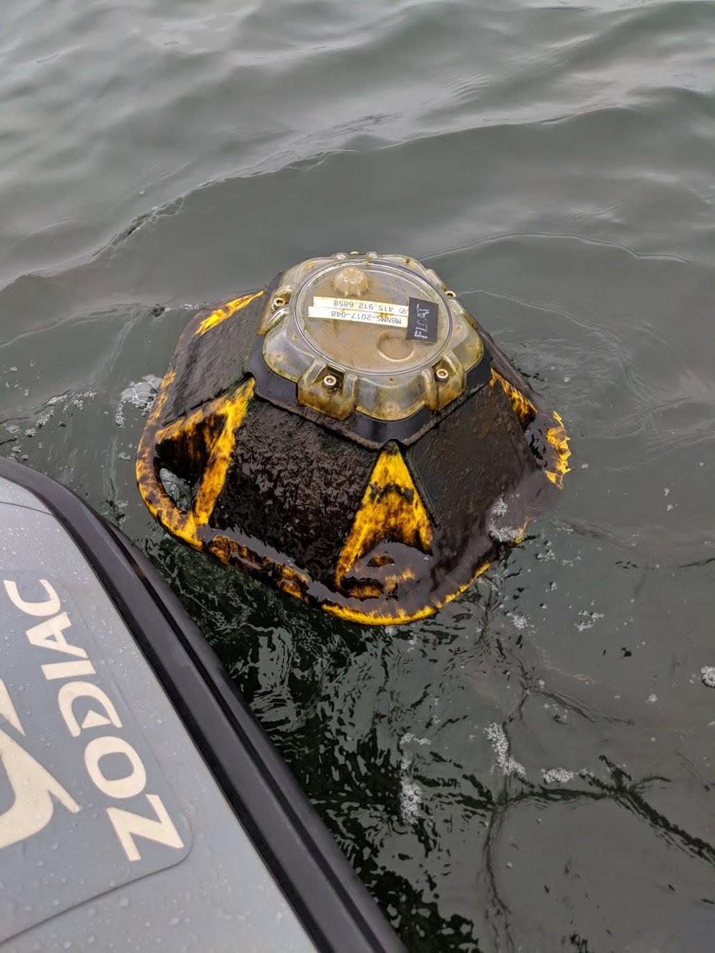 Dirty spotter buoy.
