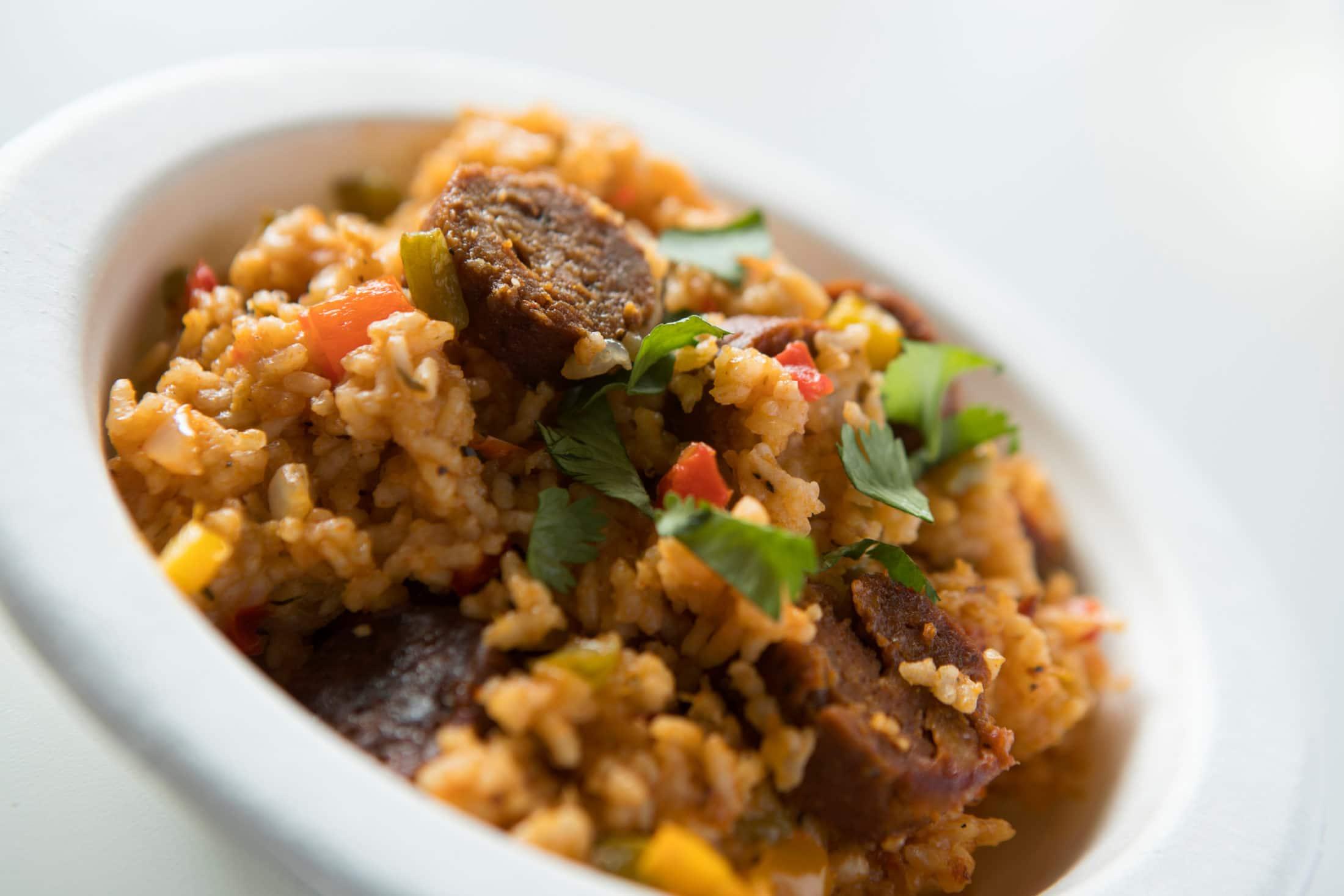 Vegan Jambalaya from Trinity Kitchen