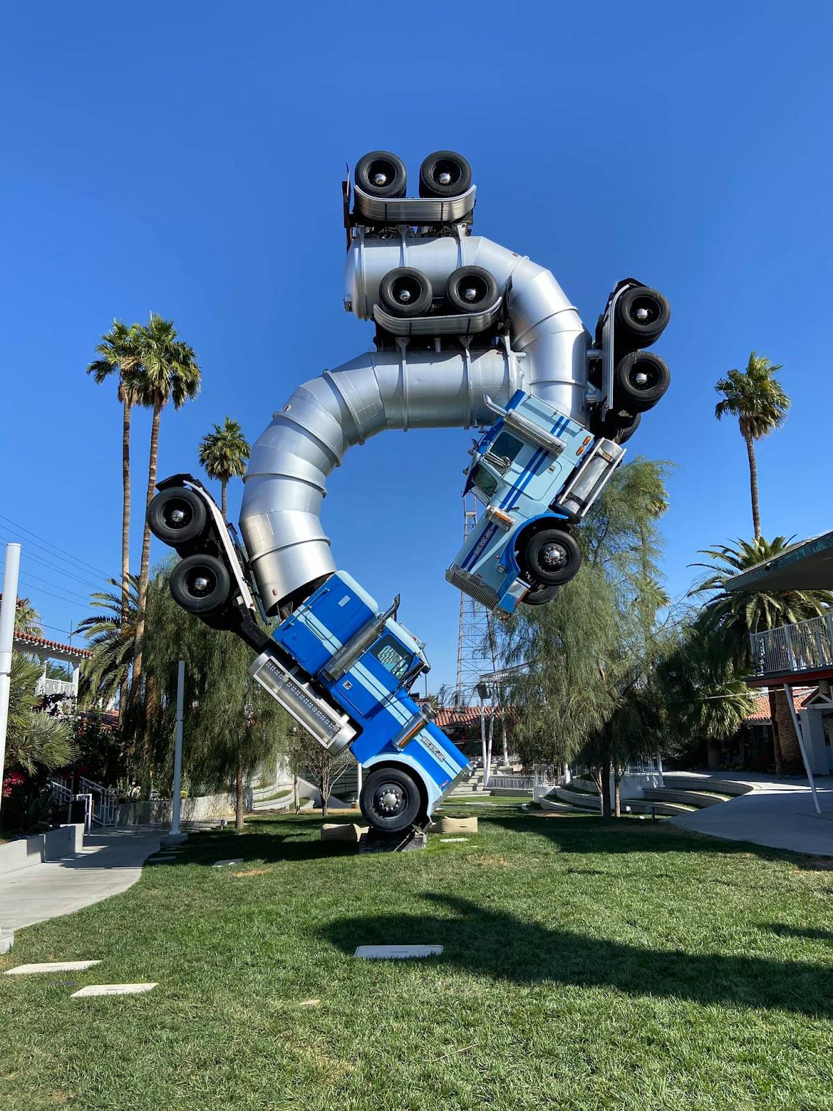 18-wheeler truck sculpture