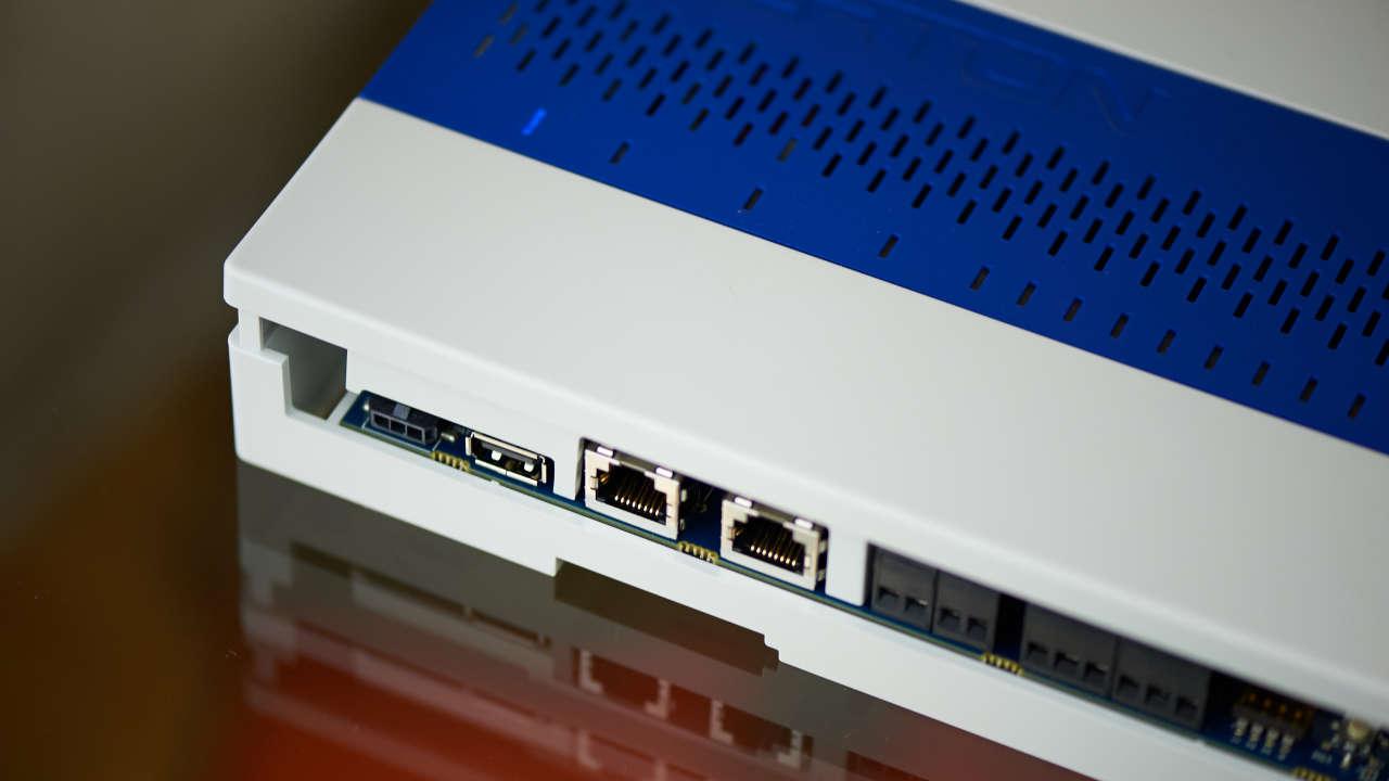Close up of an alerton power box