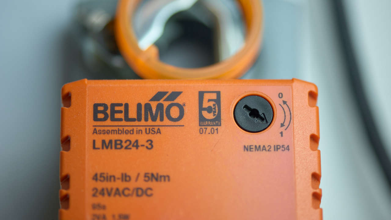Close up on Belimo product