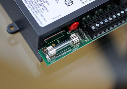 Close up of a battery inside of a device