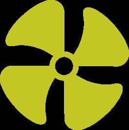 Green fan icon