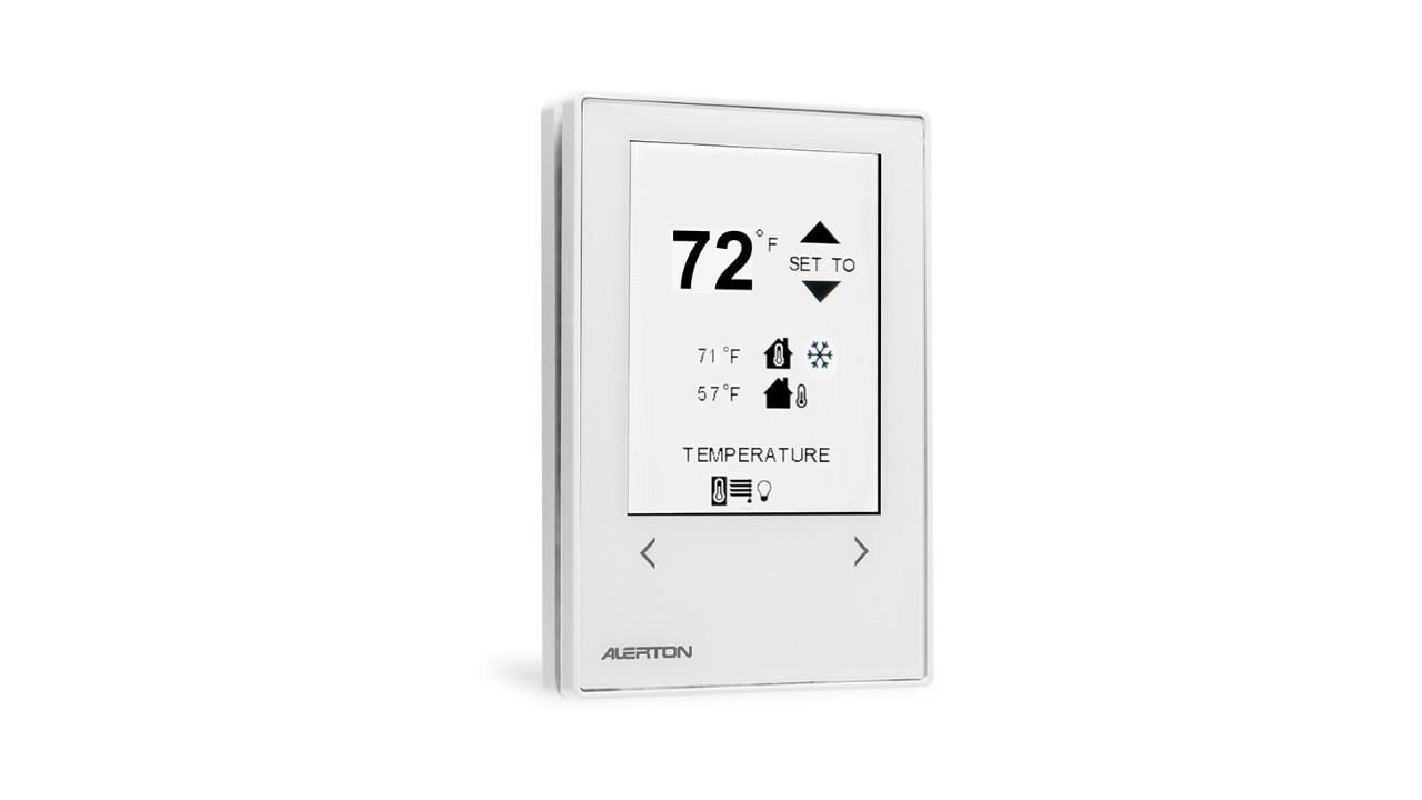 Thermostat on a white background