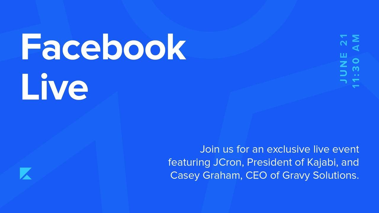 Join JCron and Casey Graham Of Gravy For A Facebook Live!