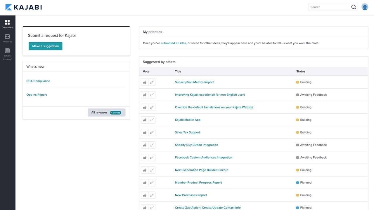 Customer Feedback Portal: Collaborate and Vote on Future Kajabi Updates!