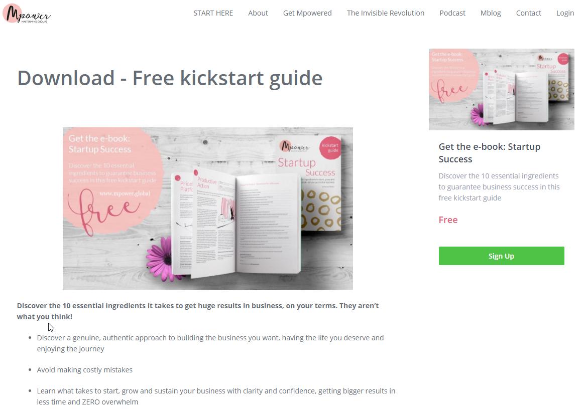 Free Kickstarter ebook download