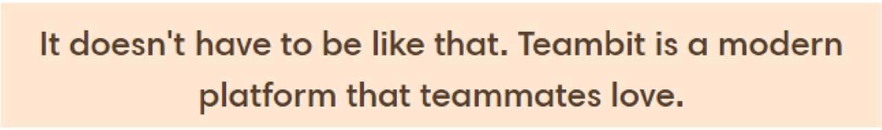 Teambit value proposition