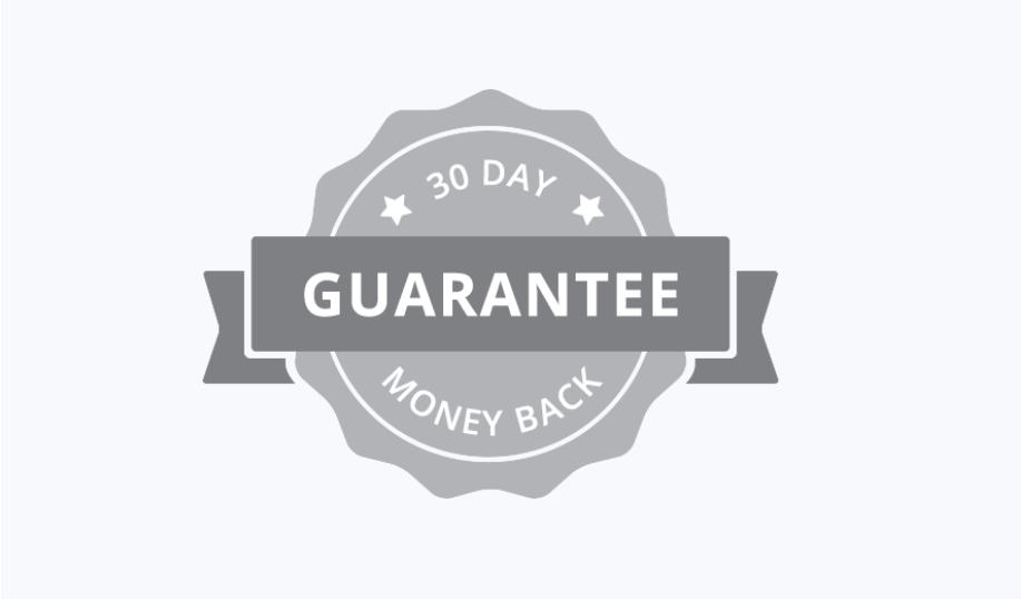 """Landing page product guarantee"