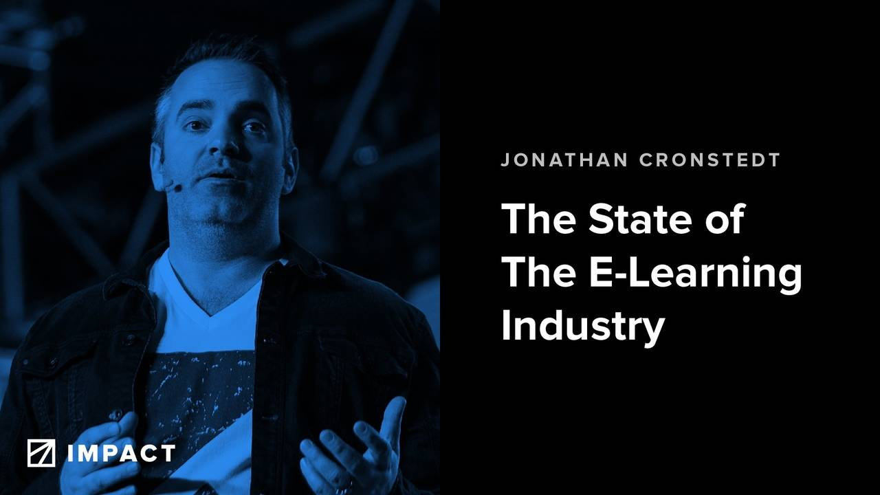 Impact Summit 2019: The State of The E-learning Industry With Kajabi President Jonathan Cronstedt