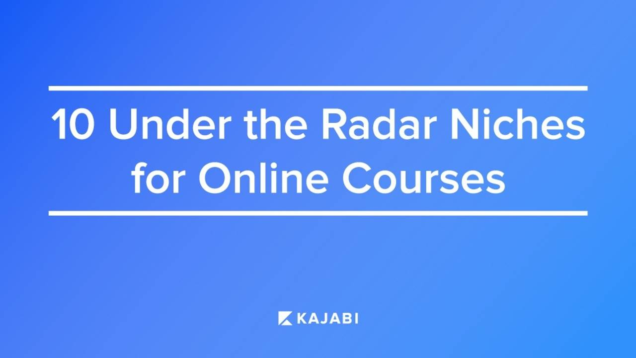 The Top 10 Most Profitable Under The Radar Niches For e-Courses!
