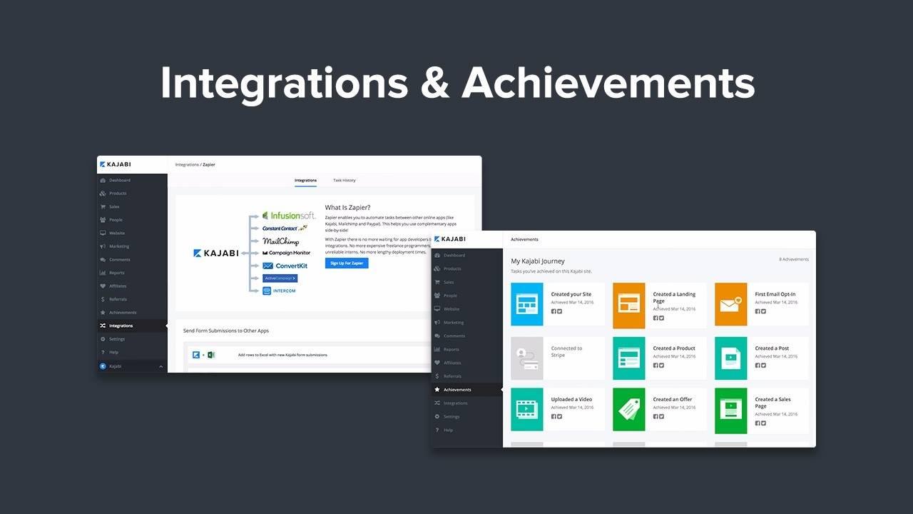 New Kajabi Features: Built-In Integrations & App Achievements