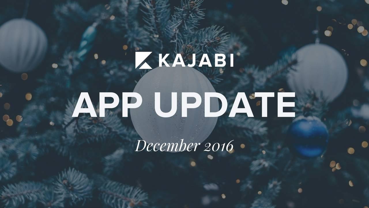 App Update December 2016