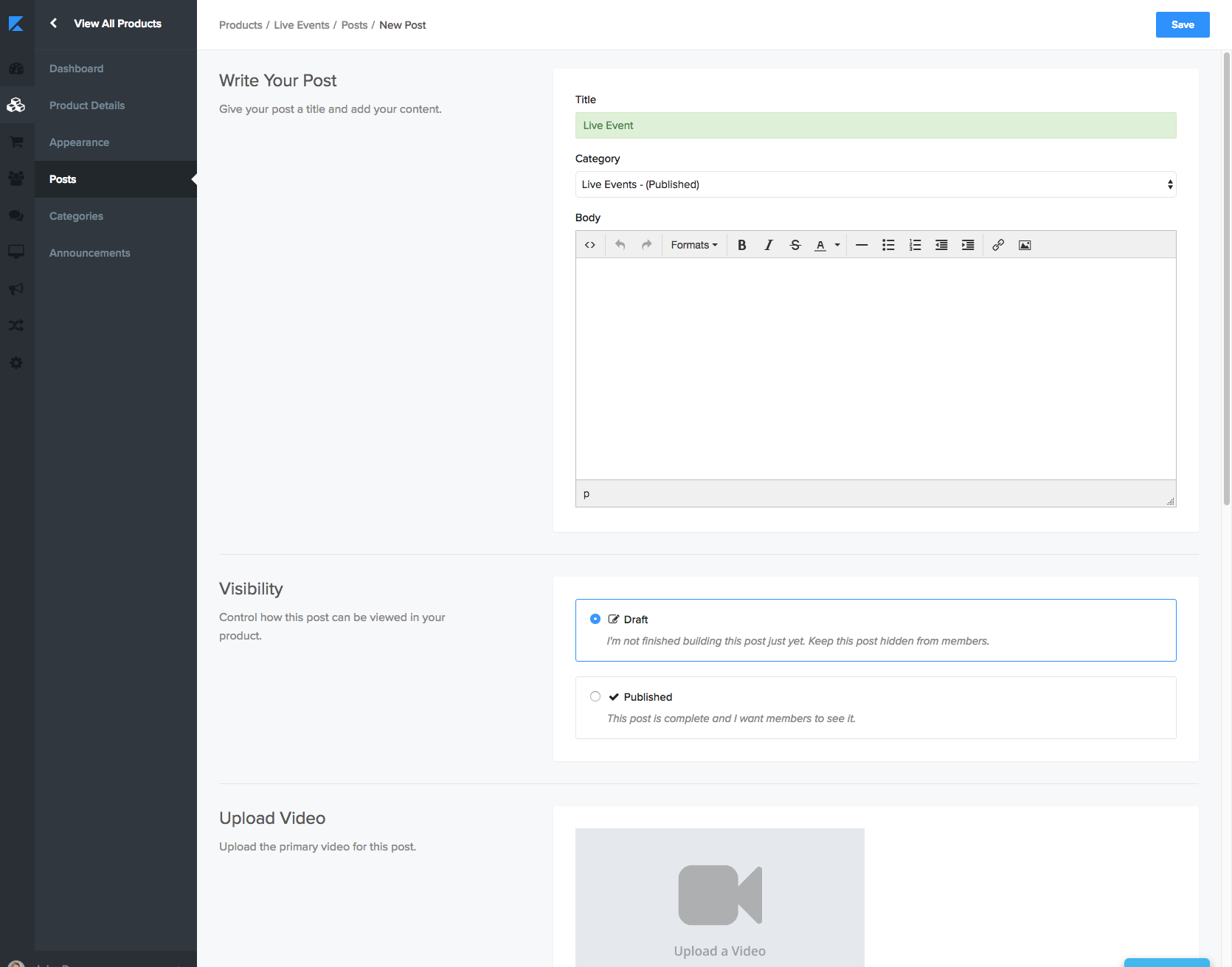 How To Host A Live Video Broadcast In A Kajabi Product Tutorial Scroll down to find the rtmp input settings and click get link. video broadcast in a kajabi product