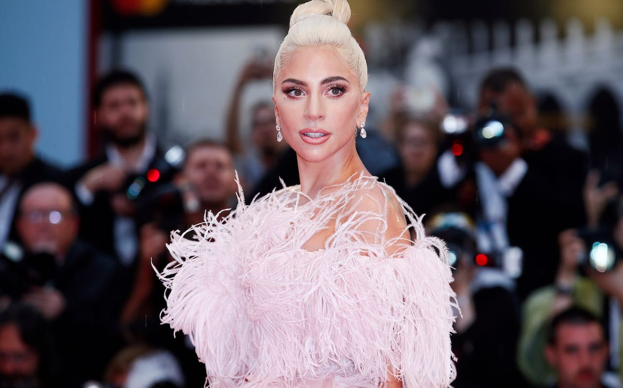 Lady Gaga at the premiere of the movie 'A Star Is Born' during the 75th Venice Film Festival