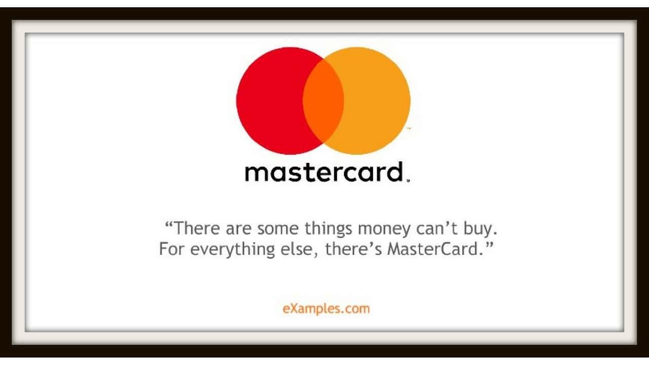 Mastercard logo and tagline