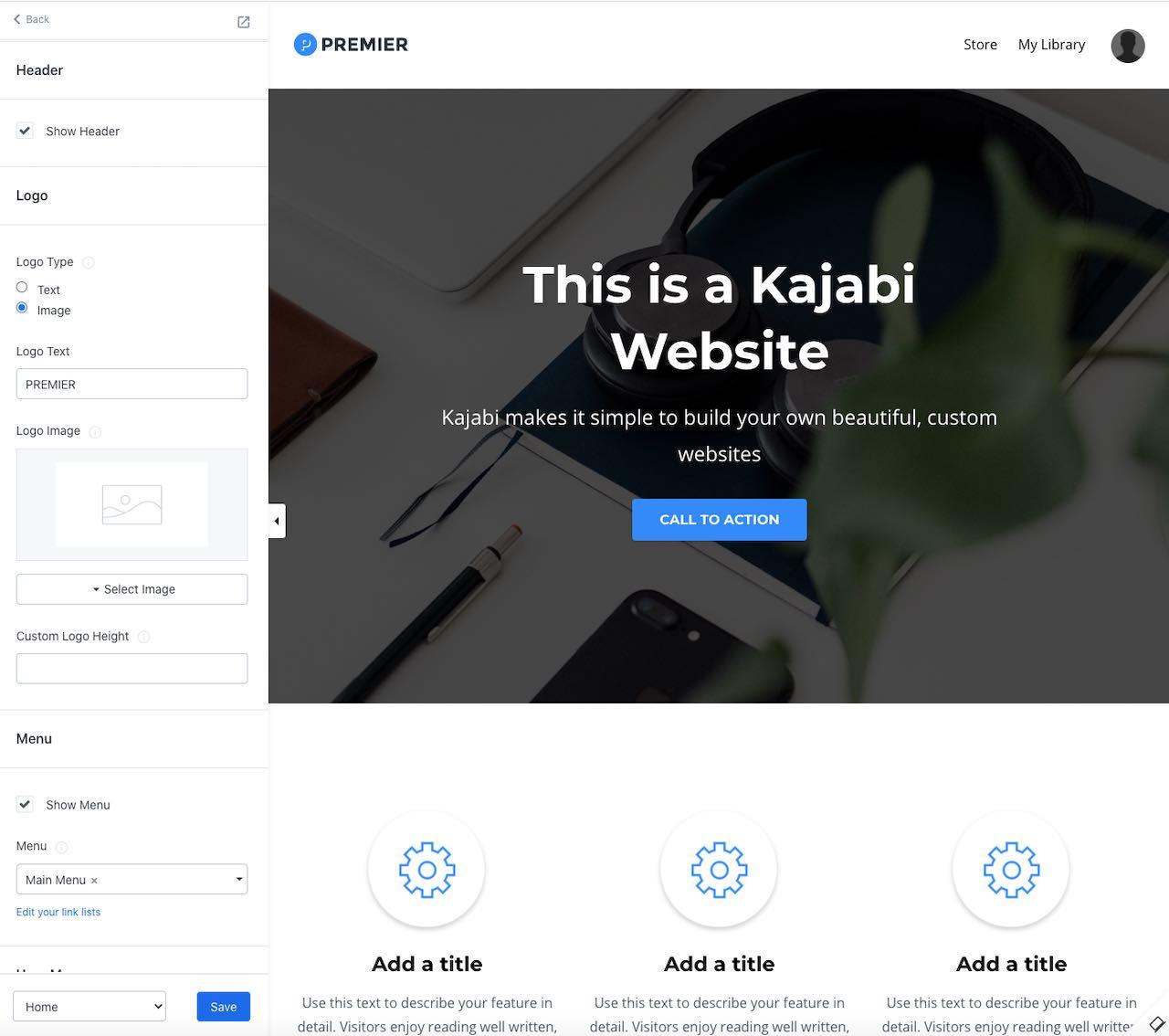 Building a website in the Kajabi platform