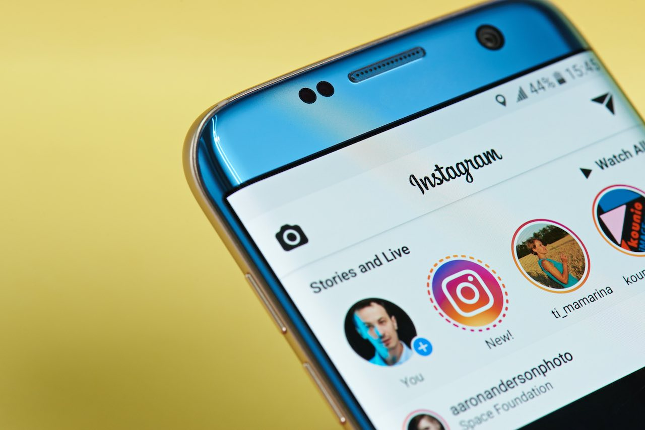 Instagram feed on smartphone
