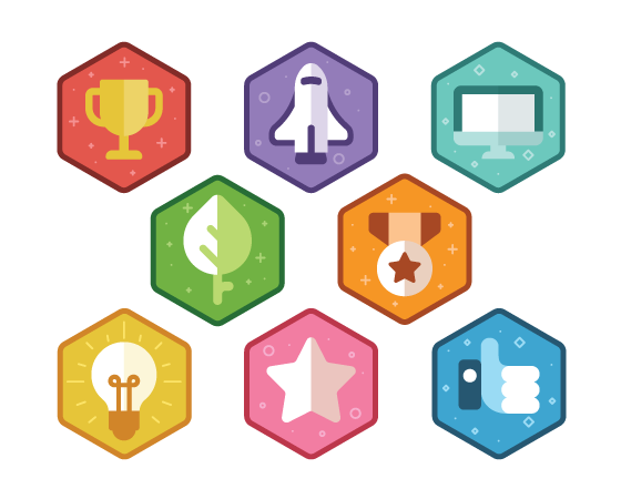 Colorful Gamification Badges - Downloads - E-Learning Heroes