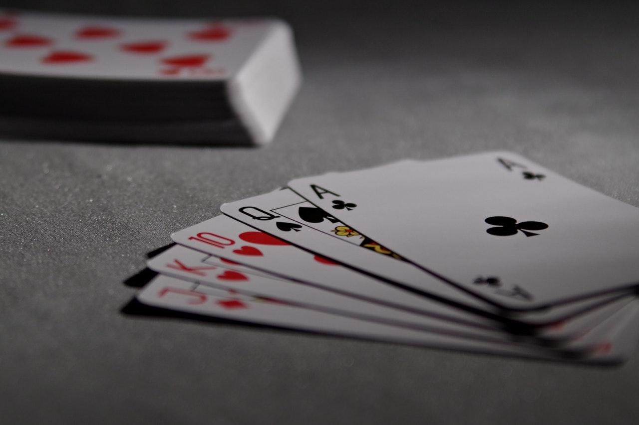 A picture of a hand of playing cards
