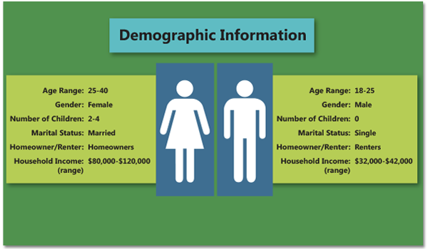 Demographics for defining a business' target audience