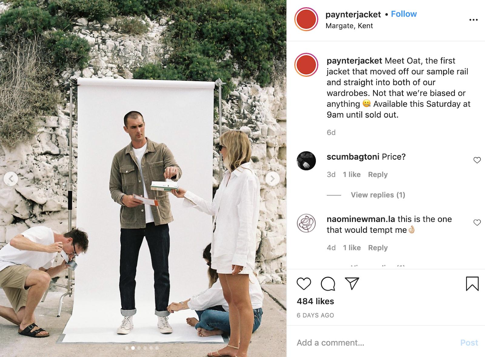 Instagram post by Paynter Jacket