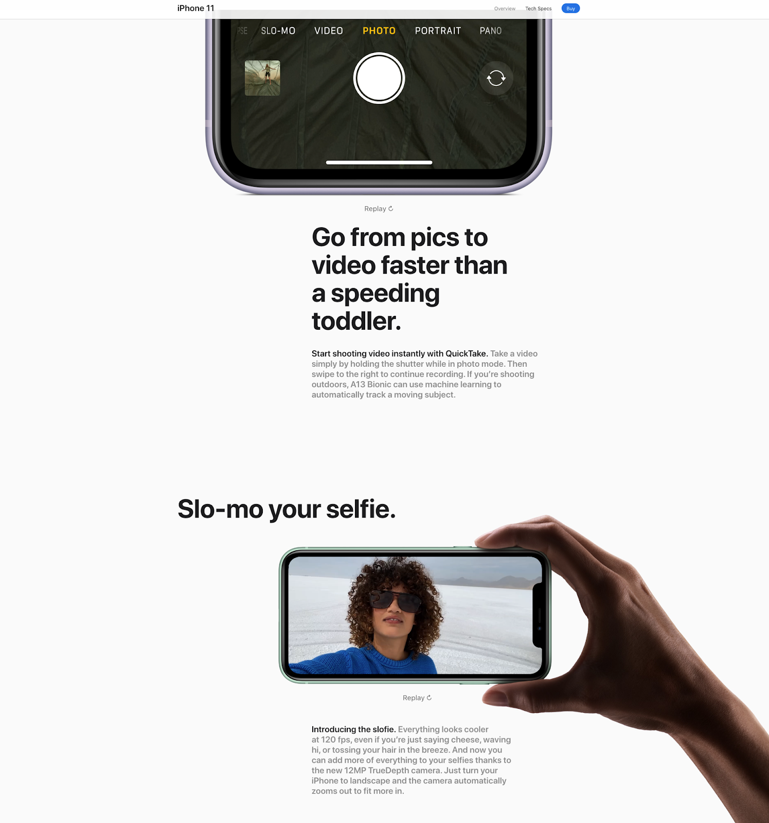 Apple sales page for their new iPhone
