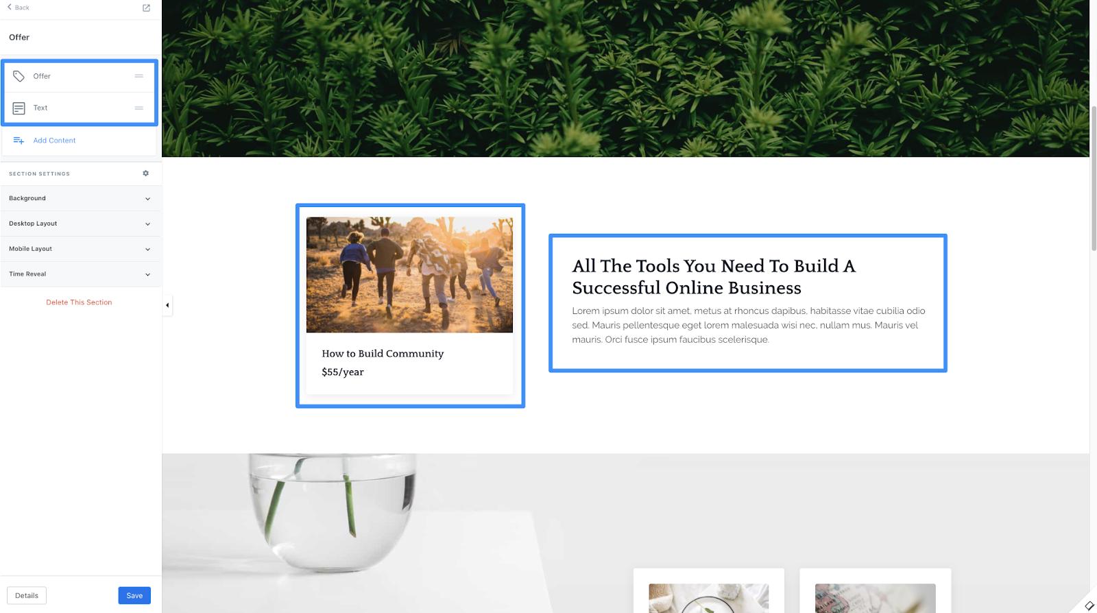 Kajabi sales page builder