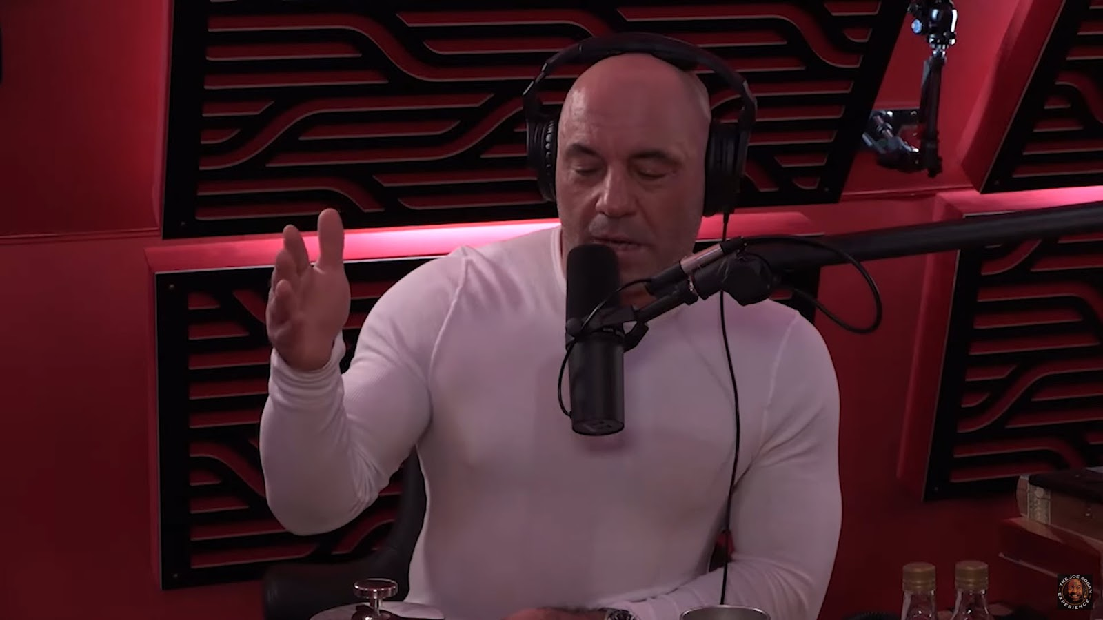 Joe Rogan during a video version of his podcast, The Joe Rogan Experience