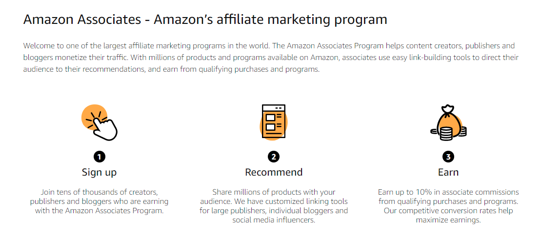 Amazon affiliate marketing program information