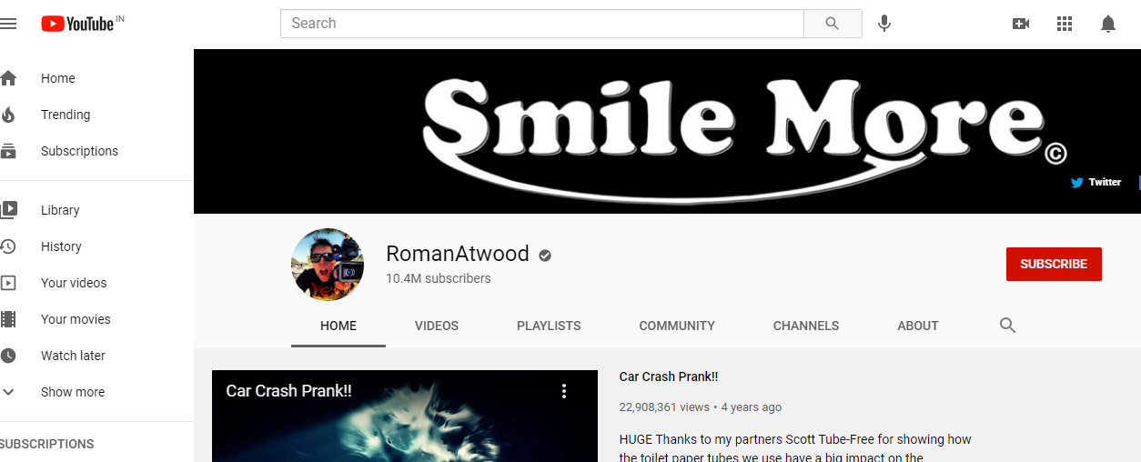 RomanAtwood's YouTube Channel