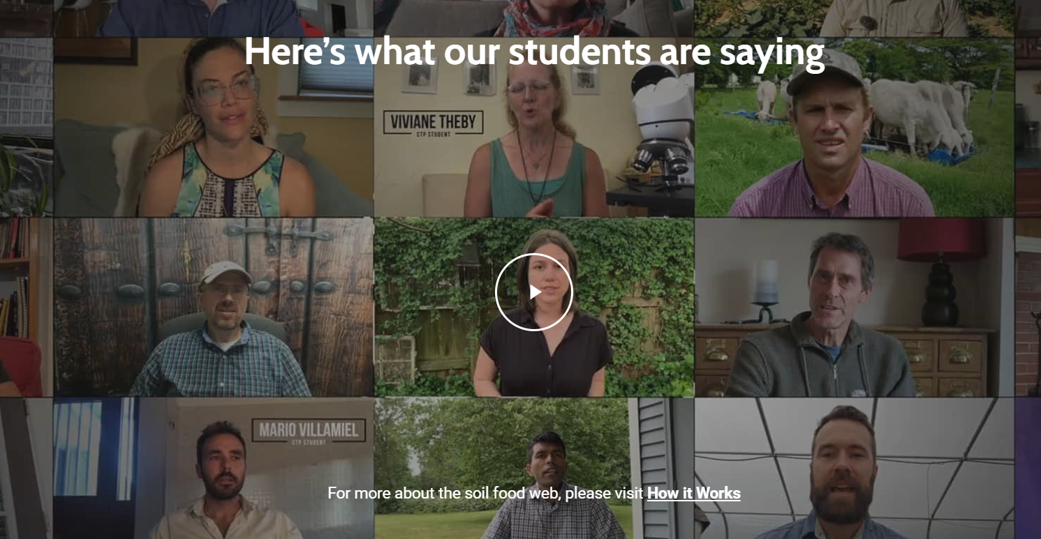SoulFoodWeb features a video of their student testimonials
