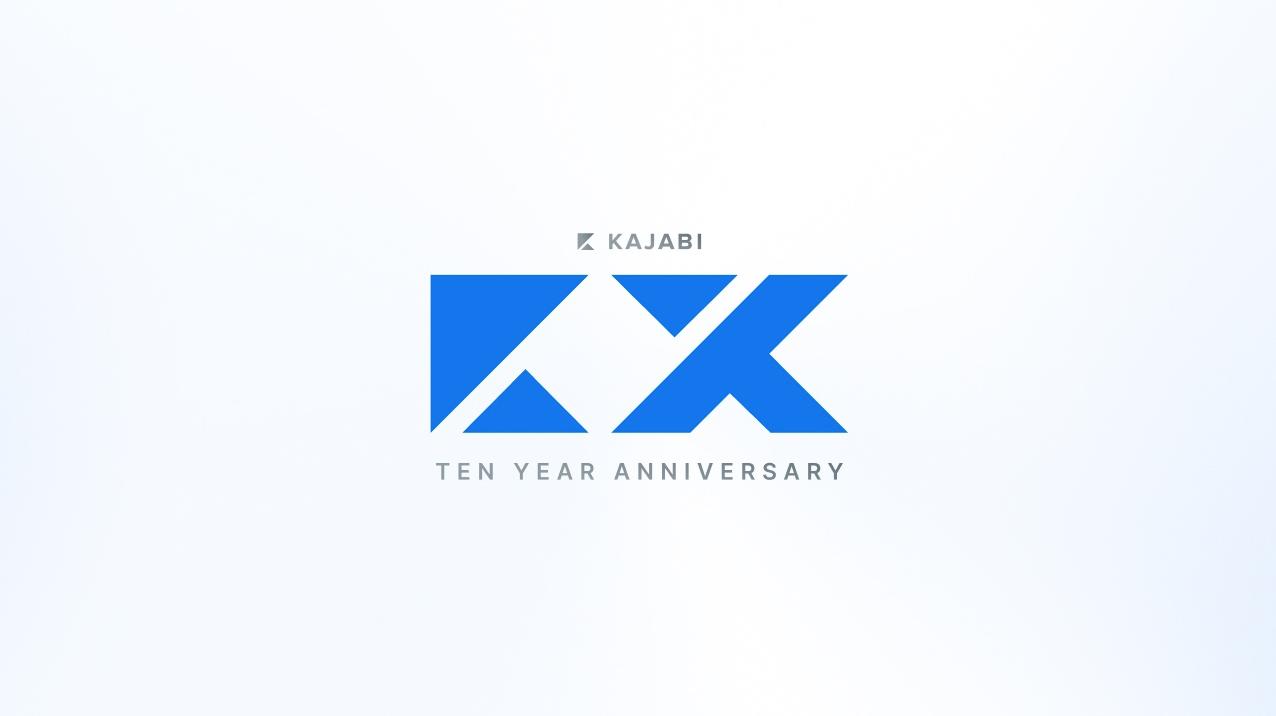 Kajabi 10-year-anniversary logo